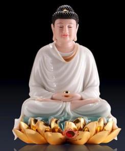 tượng đức bổn sư thích ca mâu ni đá cẩm thạch 5