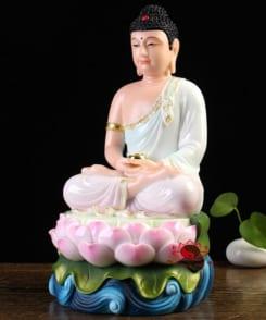 tượng đức bổn sư thích ca ngồi tòa sen 8