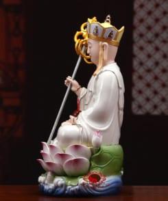 tượng ngài địa tạng ngồi bằng gốm 5