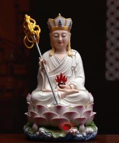 tượng ngài địa tạng ngồi bằng gốm 6