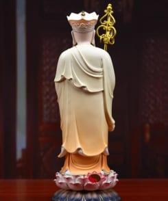 tượng ngài địa tạng vương đứng bằng gốm 4