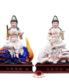 Văn Thù Sư Lợi Và Phổ Hiền Bồ Tát