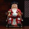 tượng ông tài phát màu đỏ bằng gốm 4