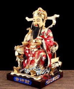 tượng ông thần tài quan lộc đồng mạ vàng 6