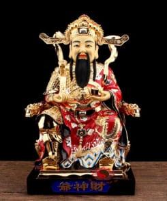 tượng ông thần tài quan lộc đồng mạ vàng 7
