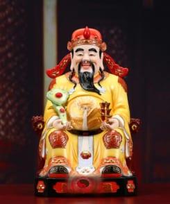 tượng ông thần tài quan lộc màu vàng 4