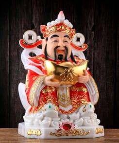 tượng ông thần tiền màu đỏ phú quý 6