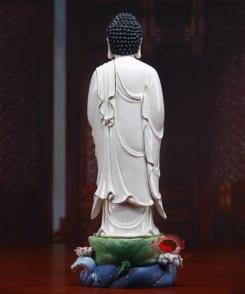 tượng phật a di đà đứng gốm sứ cao cấp 2