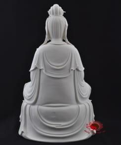 tượng phật đại thế chí bằng sứ trắng đẹp 4