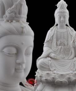 tượng phật đại thế chí bằng sứ trắng đẹp 5