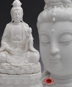 tượng phật đại thế chí đẹp ngồi tòa sen trắng 6