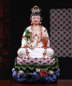 tượng phật đại thế chí ngồi tòa sen màu trắng 6
