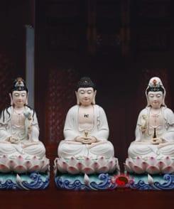 tượng phật tây phương tam thánh ngồi tòa sen 4