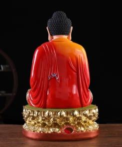 tượng phật thích ca bằng composit màu đỏ 4
