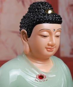 tượng phật thích ca đẹp bằng đá cẩm thạch màu xanh 2