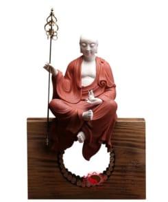 tượng sứ đức địa tạng màu đỏ đẹp 8