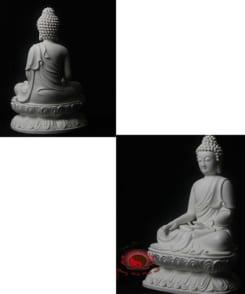 tượng sứ đức phật thích ca ngồi tòa sen 2