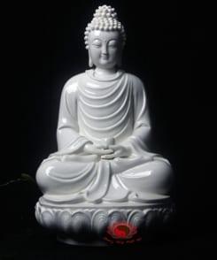 tượng sứ đức phật thích ca ngồi tòa sen 3