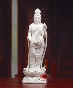 tượng sứ tây phương tam thánh đứng tòa sen 3