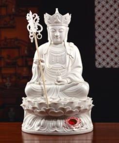 tượng sứ trắng đức địa tạng vương ngồi 4