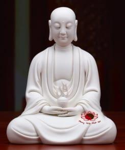 tượng sứ trắng ngài địa tạng cầm ngọc như ý 6