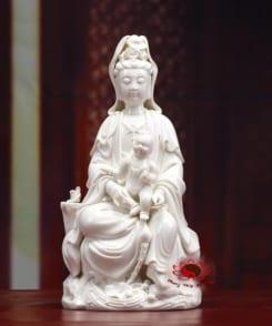 tượng sứ trắng quan âm tống tử 7