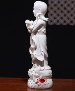 tượng sứ trắng tiên đồng ngọc nữ 9