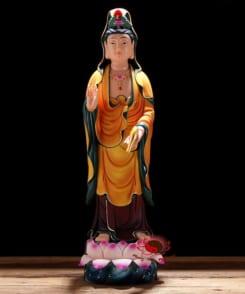 tượng tây phương tam thánh bằng gốm 3