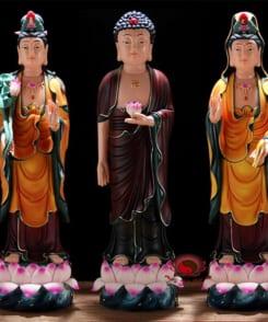 tượng tây phương tam thánh bằng gốm 4