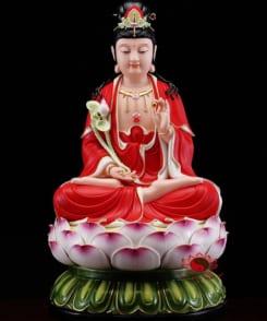tượng tây phương tam thánh màu đỏ 3