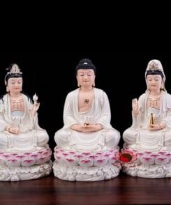 tượng tây phương tam thánh ngồi 4