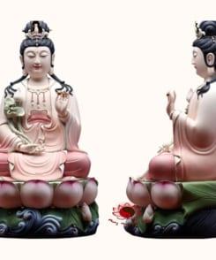 tượng tây phương tam thánh ngồi màu hồng 6