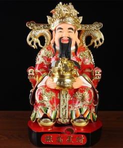 tượng thần phát màu đỏ sợi thủy tinh 6