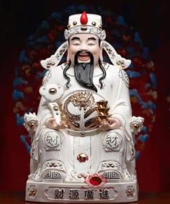 tượng thần tài quan lộc áo trắng 5