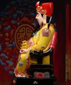 tượng thần tài quan lộc áo vàng 1