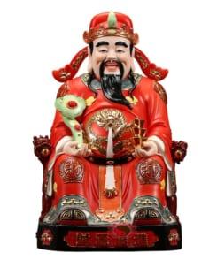 tượng thần tài quan lộc đẹp màu đỏ 5