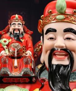 tượng thần tài quan lộc đẹp màu đỏ 6
