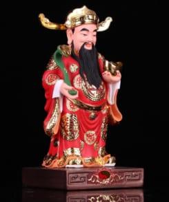 tượng thần tài quan lộc đứng màu đỏ 4