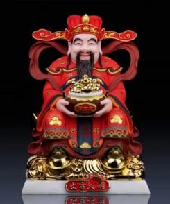 tượng thần tài thần phát màu đỏ phú quý 7