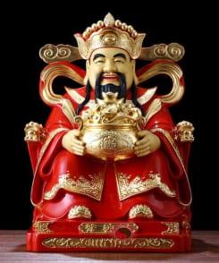 tượng thần tiền đại phú quý bằng đồng áo đỏ 7