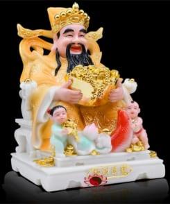 tượng thần tiền may mắn màu vàng 5
