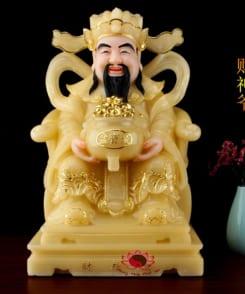 tượng thần tiền ôm tụ bảo đại phát màu vàng 6