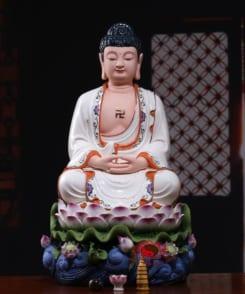 tượng thờ a di đà phật gốm sứ cao cấp 6
