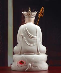 tượng thờ đức địa tạng đẹp bằng sứ 4