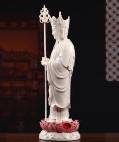 tượng thờ ngài địa tạng đứng tòa sen 3