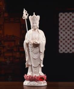 tượng thờ ngài địa tạng đứng tòa sen 4