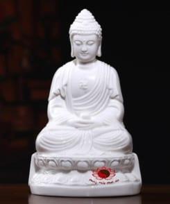 tượng thờ phật a di đà bằng sứ trắng 5