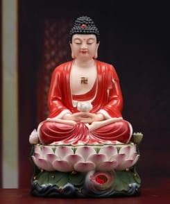 tượng thờ phật a di đà ngồi tòa sen 4