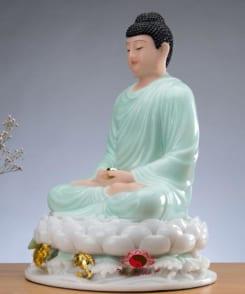 tượng thờ phật thích ca ngồi tòa sen 2