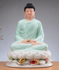 tượng thờ phật thích ca ngồi tòa sen 3